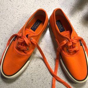 Polo sneakers in orange